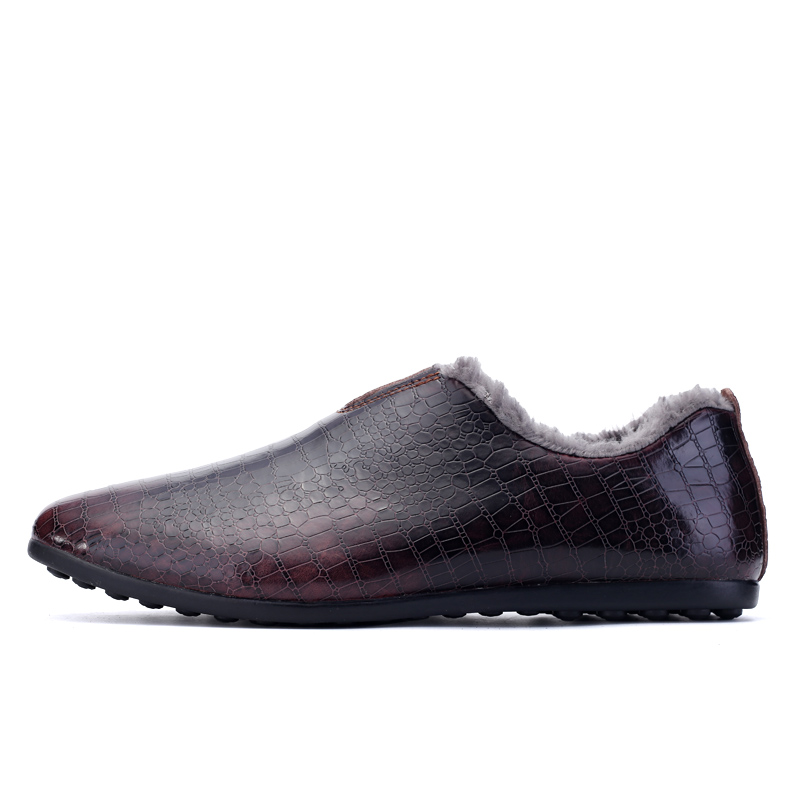 2018 luxury Men Braid Genuine Leather Casual Driving Shoes Oxfords Slip on Short Plush Shoes Men Flats Loafers Shoes for Men choudory crystal rhinestone men shoes luxury genuine leather loafers slip on party oxfords zapatos hombre 2016
