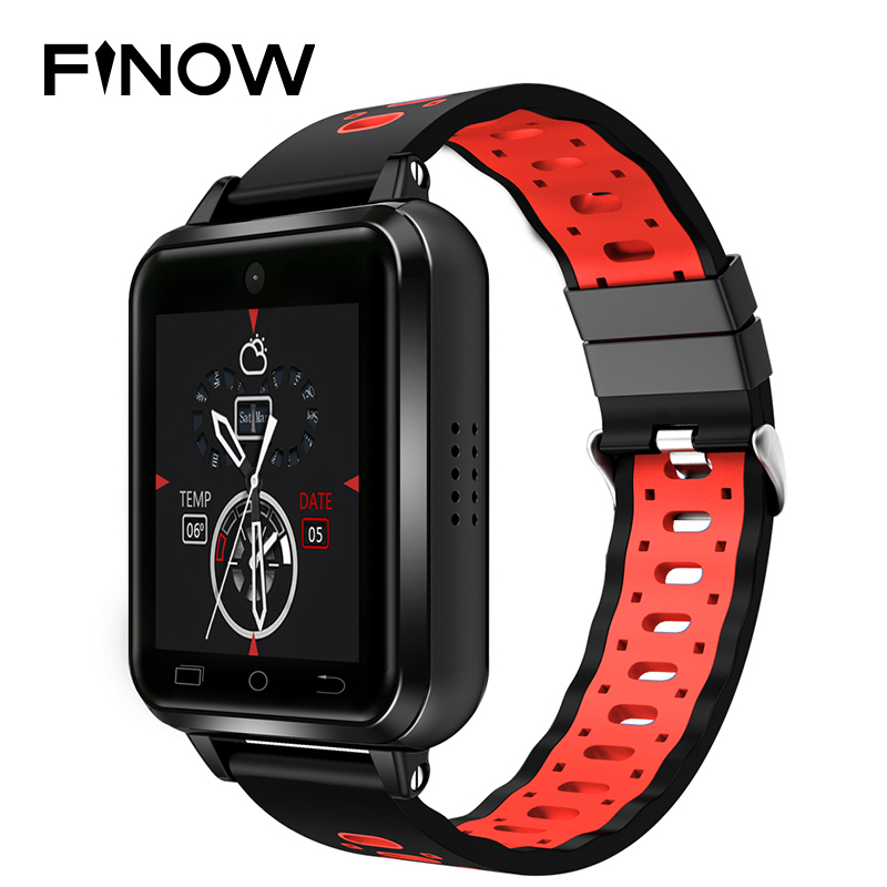 Finow Q1 Pro 4G smart watch Android 6.0 MTK6737 Quad Core 1GB/8GB SmartWatch Phone Heart Rate Sim Card Support Change Strap 18mm
