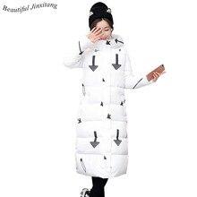 Плюс Размеры Для женщин куртка новинка 2017 года с длинным рукавом милая девушка Мужские парки тонкий пальто мода пальто с капюшоном Утепленная одежда хлопковая верхняя одежда q56 A6