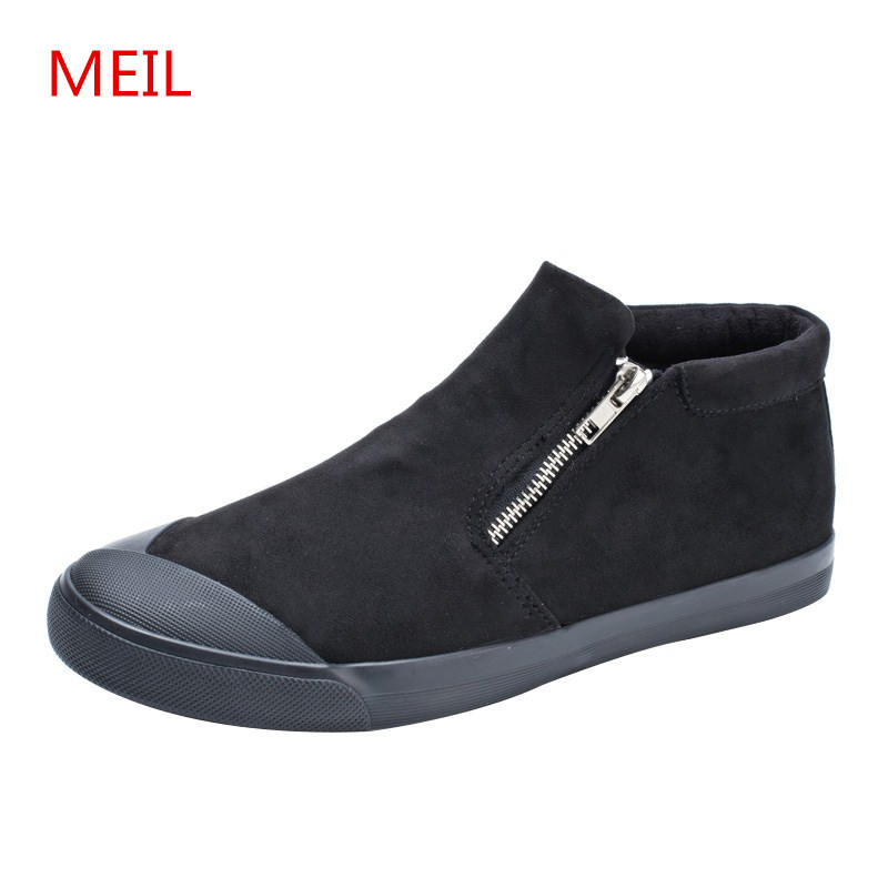 MEIL 2018 New Fashion Spring Black canvas Shoes Men Breathable Flats loafers chaussure homme sneakers Casual Shoes men 2017new men casual shoes elastic breathable massage flats shoes spring summer men s flats men sapatos chaussure homme masculinos