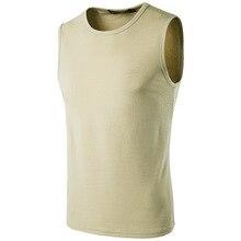 Summer new males's pure excessive road waistcoat undershirt vest shirt
