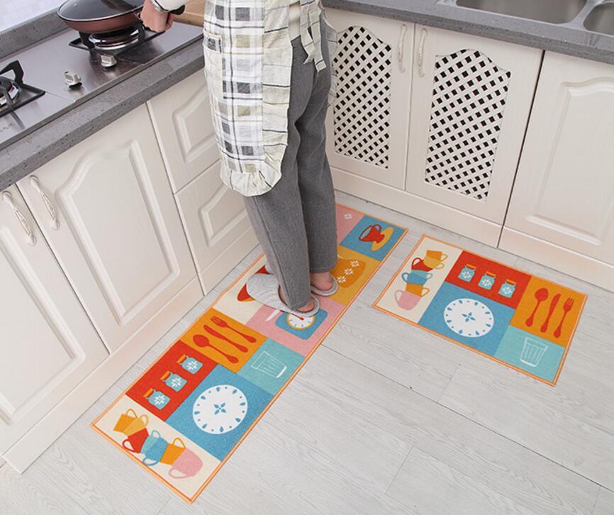 Us 15 22 65 Off Cartoon 2 Pcs Set Bathroom Mat Kitchen Non Slip Rug Carpets Large Size Soft Bath Mats Toilet Carpet Bedroom Doormat In