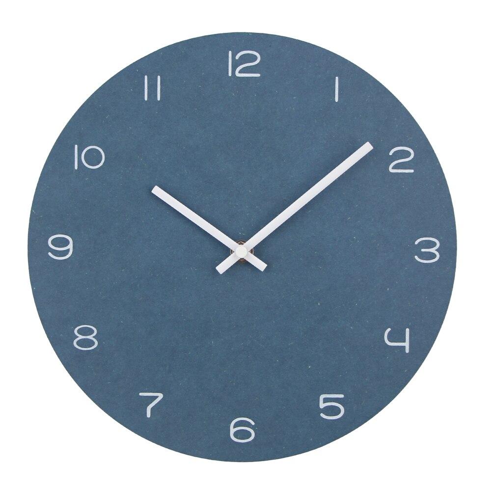 Modern Circular Vintage Wall Clock Slient Large Brief Style Wood Round Wall Clocks Watch Quartz Home Decor Relogio De Parede New