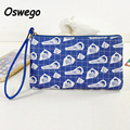New Harajuku Style Printing Women Bag Long Ladies Clutch Phone Key Organizer Pouch Card Holder Zipper Coin Purse with Hand-strap