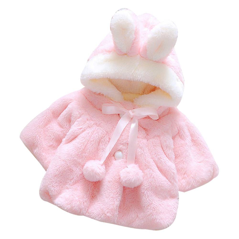 Baby Butterfly Girls Infant Winter Warm Bow Cute Rabbit Cartoon Thick Coat 40 Jacket