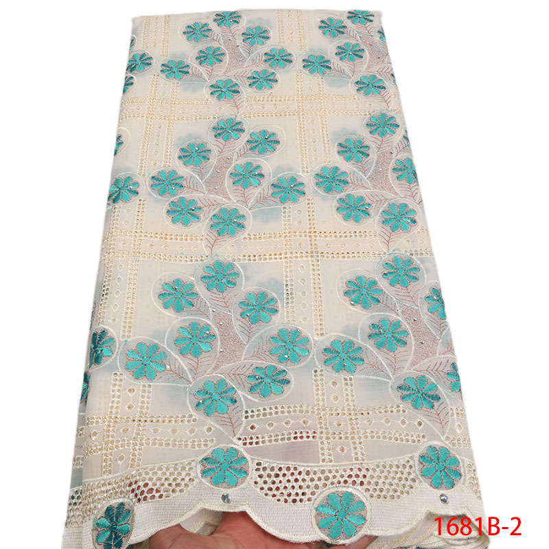 African Dry Lace Fabric High Quality White Swiss Voile Lace Fabric Embroidery Cotton Voile Lace For