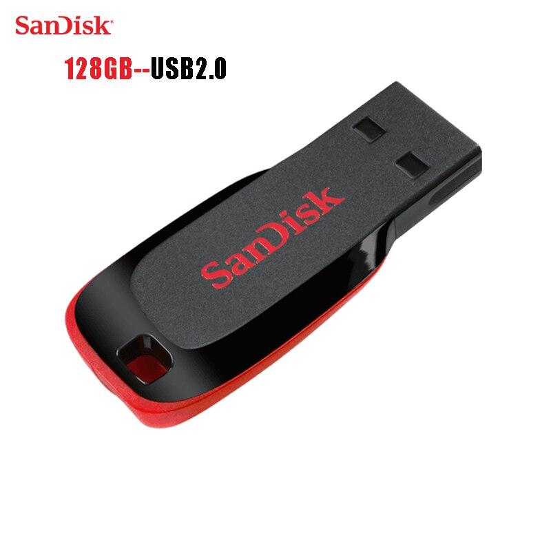 Sandisk 100% D'origine usb 2.0 mini usb lecteur flash usb stick usb mémoire bâton flash disque 128 gb lanière Libre