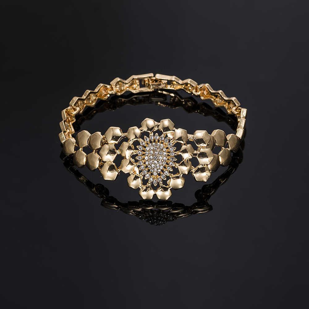 MUKUN 2019 Дубай золотой красочный Ювелирный Набор оптом свадебные женские аксессуары ювелирный набор брендовый качественный эффектный ювелирный набор