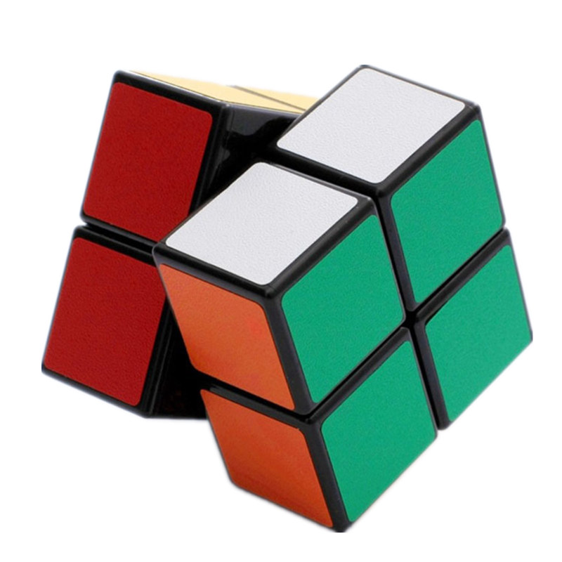 SHEGNSHOU Cube 2X2 Magic Cube 2 By 2 Cube 50mm Speed Pocket Sticker Puzzle Cube Professional Educational Toys For Children