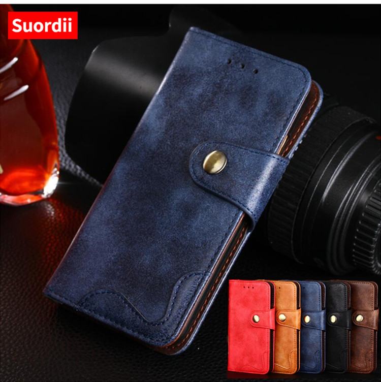 Suordii Flip Leather Phone Fundas For Meilan Note 6 Wallet Flip Stand Protective Case For Meizu Meilan Note 5 M5 Note 3GB+16GB