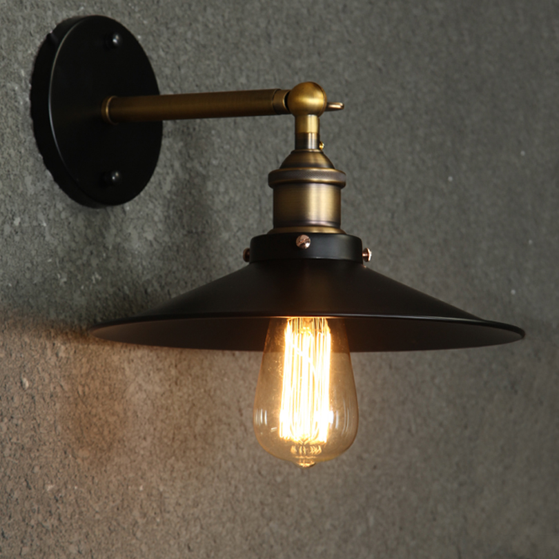 Modern Vintage Loft Metal Double Heads Wall Light Retro Brass Wall Lamp Country Style E27 Edison Sconce Lamp Fixtures 110v/220v Top Watermelons Wall Lamps