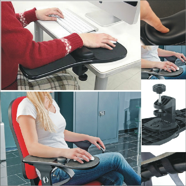 Memory foam Tables Chairs Computer Hand Bracket Wrist Support Mouse Pad Arm Shoulder Pad Mount 180 Rotating Gaming Mat for Table 25 cm 19 5 cm creative desk dedicated computer hand bracket pad wrist pad bracket wrist support mouse pad support 360 rotating