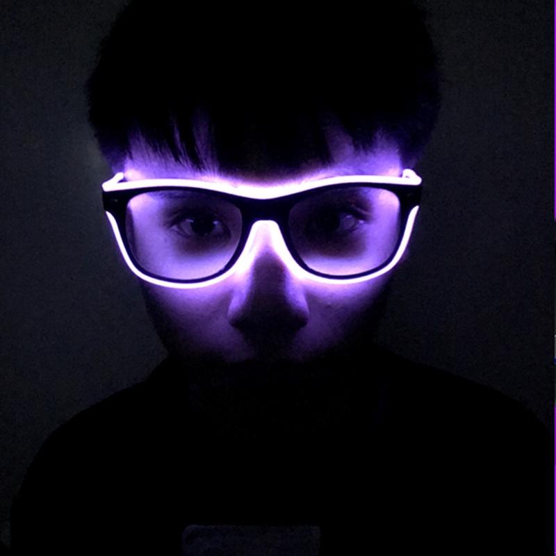Torchage LED Lunettes Bar Parti Fluorescent De Danse DJ Lumineux Glow Lunettes EL Fil Néon LED Lumière Glow Ambiance Activing Accessoires