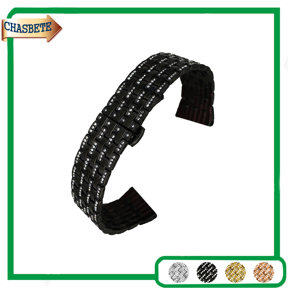 Stainless Steel Watch Band for Zenith Paul Picot Moser 21mm Push-Button Hidden Clasp Metal Strap Belt Wrist Loop Bracelet + Pin stainless steel watch band 24mm for sony smartwatch 2 sw2 pin clasp strap wrist loop belt bracelet black silver spring bar