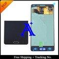 Envío gratis + tracking no. 100% orignal para samsung galaxy a5 a5000 lcd digitalizador asamblea con el botón casero-azul/blanco/oro