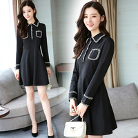 Black Plus Size 5xl Dress For Women Vestido De Festa Fashionable Dress Elegant Ukraine Office Lady Stylish The Dress Vestidos
