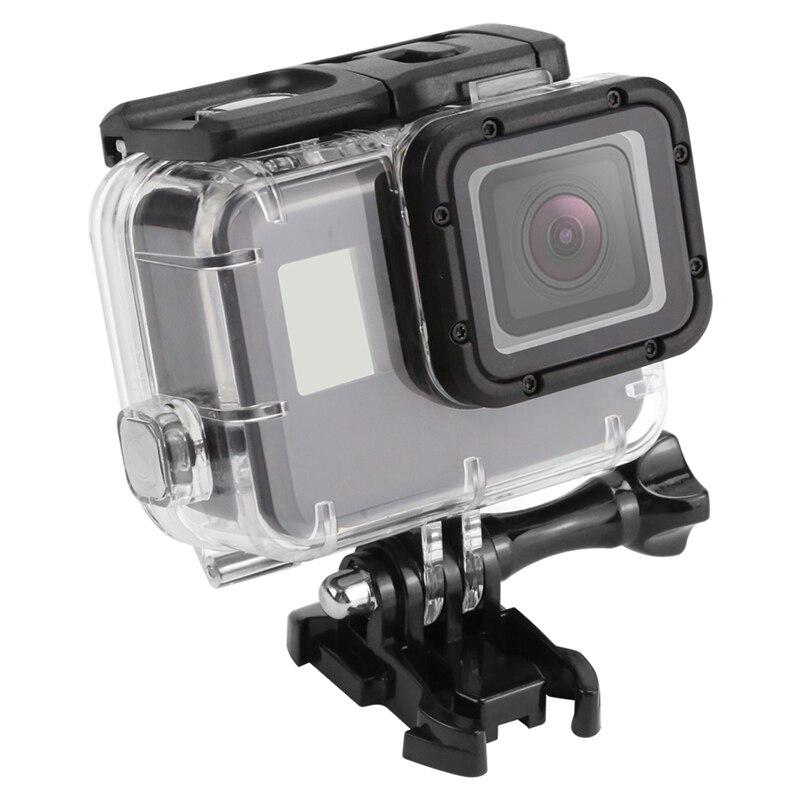 Gopro Acessórios 45 m 5 Underwater Waterproof Case para GoPro Hero/6/7 Preto Câmera de Ação Subaquática Protetora habitação esqueleto