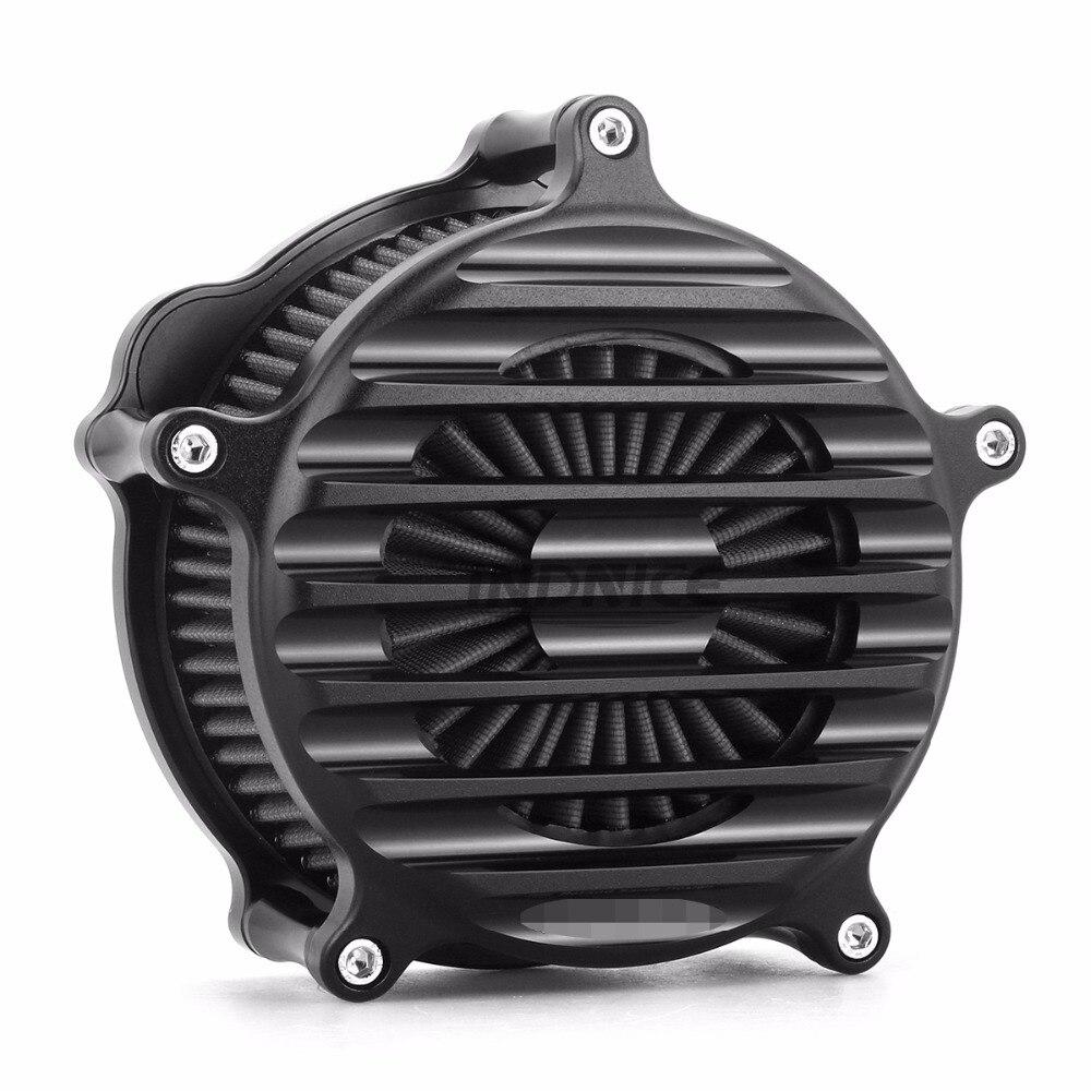 CNC black Nostalgia Venturi Air Cleaner for harley sportster 1200 air intake filters xl883 sportster 883 1991-2018 cnc black air filter motorcycle intake filter system kit air cleaner for harley sportster xl883 xl1200 1991 1992 1993 2016 2015