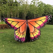 New Belly Dance Butterfly Wings Oriental Dance 360 Degree Wings Colorful Stage Performance Props Belly Dance Wings WITHOUT STICK belly dance wings adult and child rainbow butterfly 360 degree big butterfly props high quality belly dance isis wings no stick