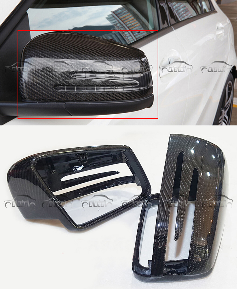 For Mercedes Mirror W204 W212 W207 W176 <font><b>W218</b></font> Carbon Mirror for Mercedes A B C E S CLS GLK CLS Class Carbon Mirror Replacement image