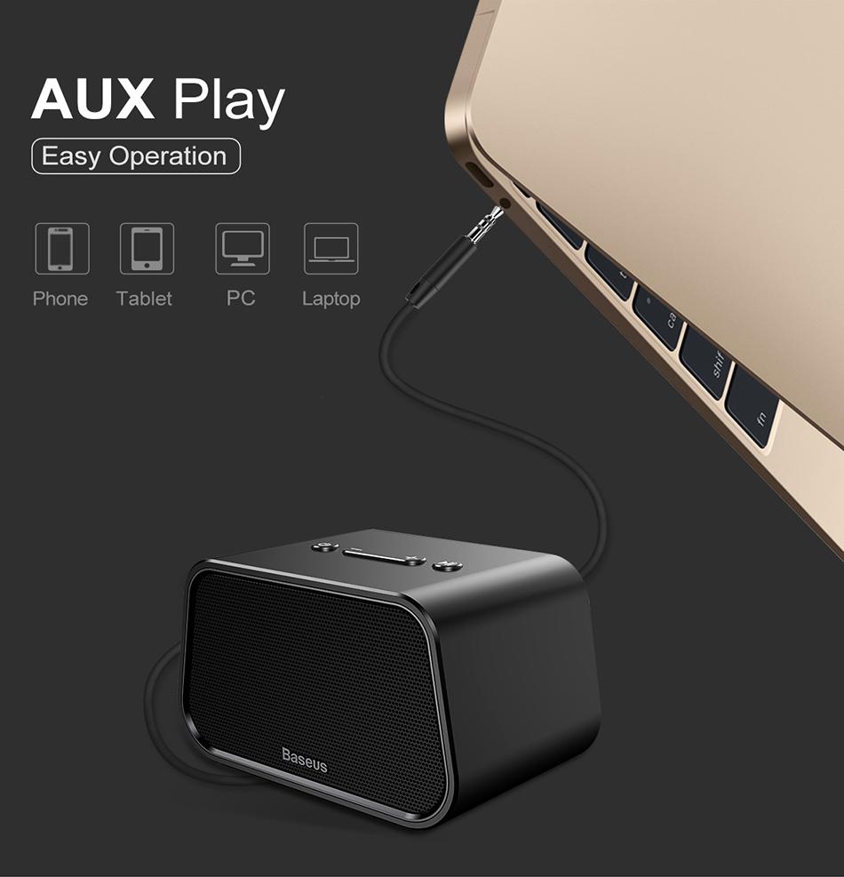 Type De Haut Parleur 2019 baseus bluetooth speaker mini portable outdoor wireless speaker 3d  stereo music surround player altavoz bluetooth haut parleur/su from  louiwill,