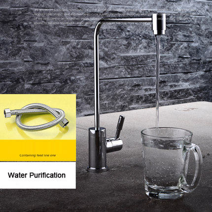 Kitchen Faucet Single Cold / Water Purifier Water tap, Clean Water Filter purification Chrome Sink Mixer for Home(Hose as Gift)