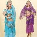 4 шт. Танец Живота Костюм Цыганский Костюм Производительность Индийский Платье Танец Живота Платье Женщин Танец Живота Костюм Устанавливает Племенных
