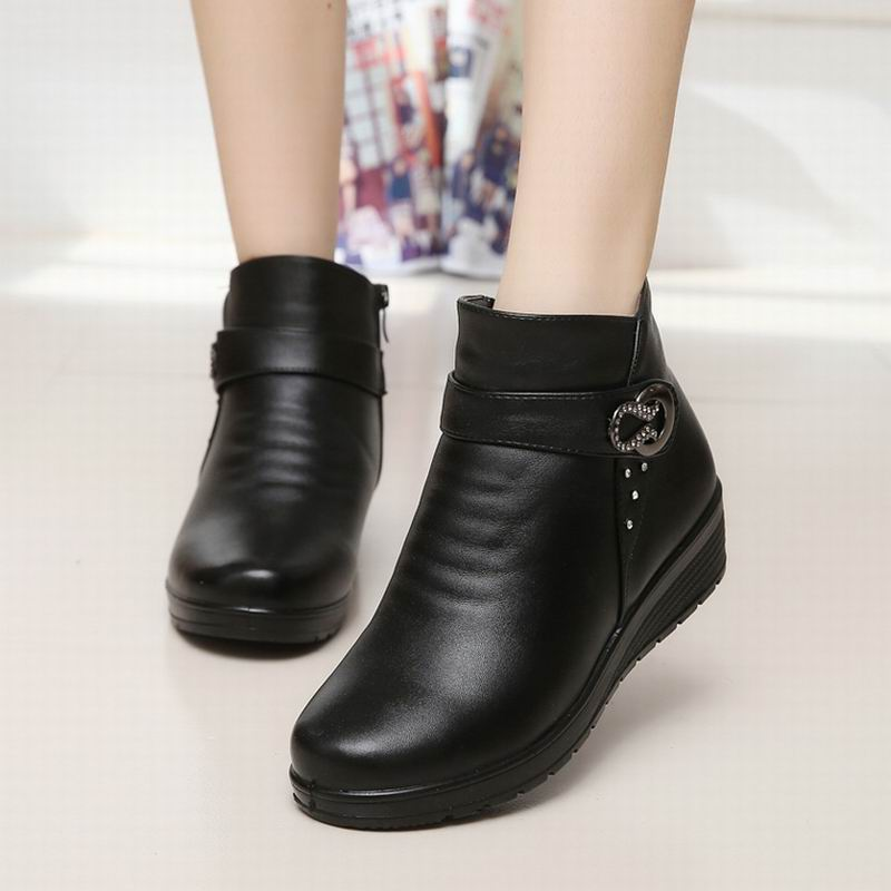 Nice Snow Boots Shoes Women Soft Leather Winter Boots