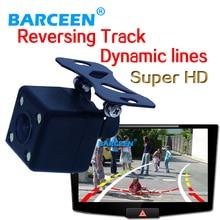 Автомобиль bakcup камеры ночного видения светодиодные фонари пластиковый корпус 170 градусов стеклянный объектив универсальный система + динамичный трек линии