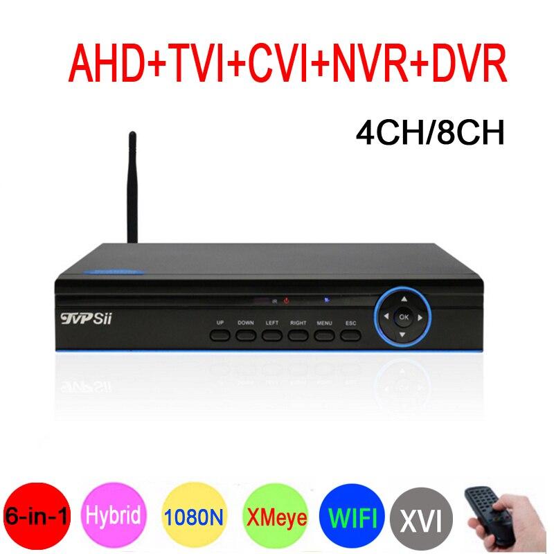 1080P/960P/720P/960H CCTV Camera XMeye Hi3520D 1080N 4CH/8CH 6 in 1 Wifi Hybrid Coaxial XVI NVR CVI TVi AHD DVR Video Recoder