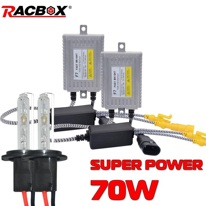H1 HID ampoule nouveau Bi xenon Super puissance Ballasts diurne phare bricolage rénovation 55 W Canbus 70 W H4 H7 H11 HB3 HB4 9005 9006