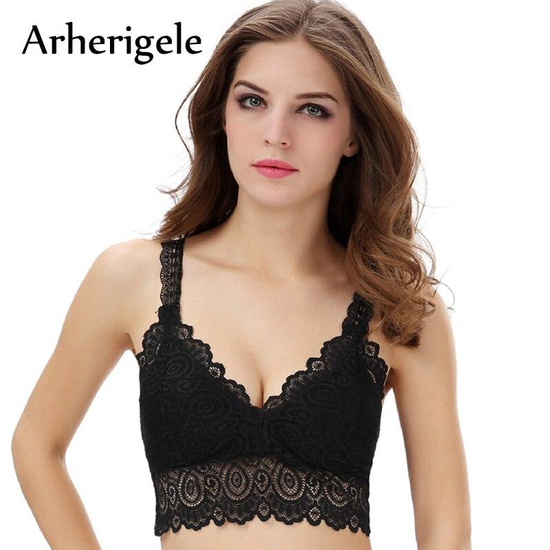 b080a32d73b46 Arherigele Strappy Lace Sexy Lingerie Crochet Bra Women Underwear Bralette  Bras Brassiere Wire Free Push Up