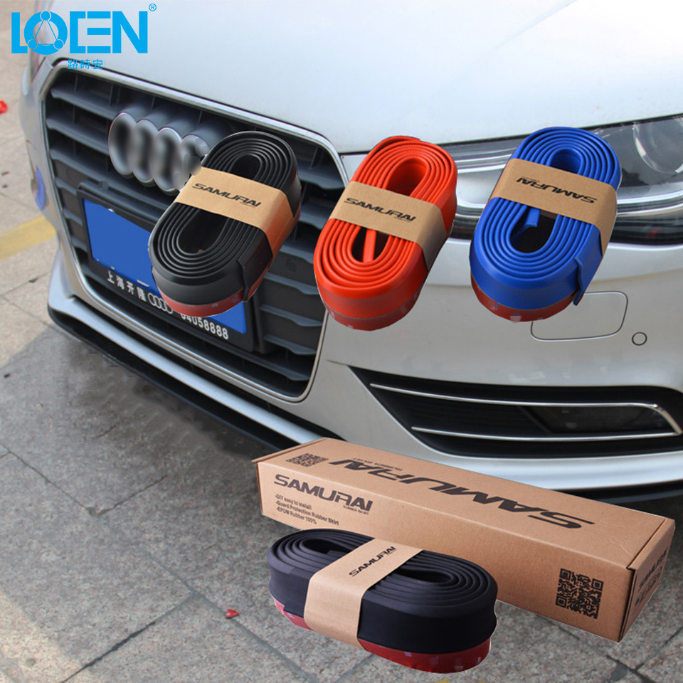 2.5M Rubber Bumper Anti Collision Car Protector Strip Guard Lip Splitter Door Guards Lip Deflector Car Sticker Styling 6 Color protective pvc car bumper guard protector sticker white 2 pcs