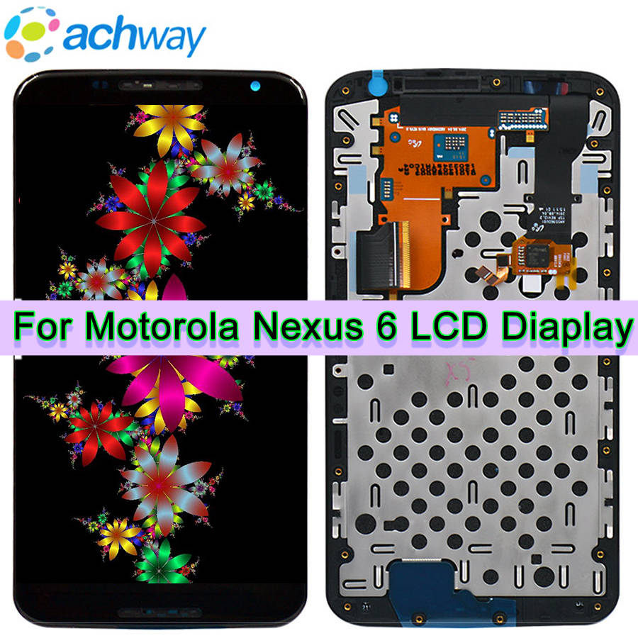 LCD Screen For Motorola Nexus 6 LCD Screen Touch Screen With Frame Digitizer Assembly Replacement parts