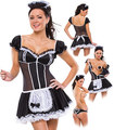 Women Sexy Late Nite French Maid Costume Servant Cosplay Sexy Women Dress Exotic Apparel Maid