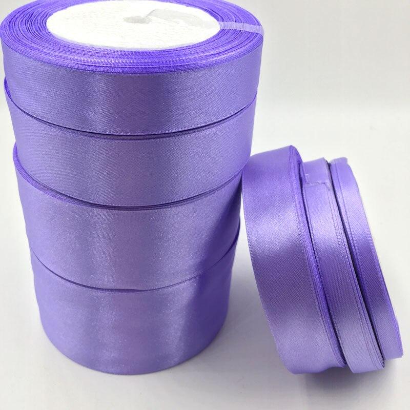 ᗕ25 yardas de satén de seda púrpura cinta boda decoración envoltura ...