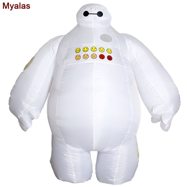b4b8eac16c60 Baymax Inflatable Costume Big Hero 6 Baymax Halloween Costume for Men Adult  Inflatable Clothing Mascot Cosume For Birthday
