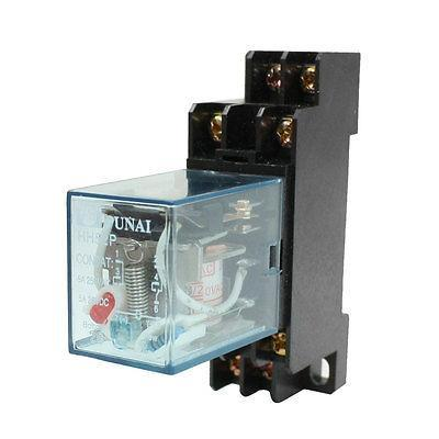 HH52P 220/240VAC Coil DPDT 8 Pins Electromagnetic Power Relay w DYF08A Base цена и фото