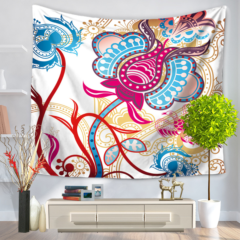 mantas de polister mandala tapiz decoracin del hogar colgando decoracin bohemia marroqu tenture mural tapiz tapices