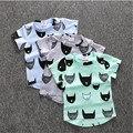 2016 niños del Verano de manga corta T-shirt de impresión de La Camiseta del palo del bebé T-shirt de impresión de dibujos animados
