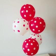 Spot ballon 50pcs/lot12 inch 2.8g round latex red kids 1 year birthday decoration wedding balloons baby shower