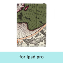 Beautiful Map High Quality PU Leather Stand Cover Case for iPad Pro 12.9inch Tablet Pc Fundas For Ipad Pro Cover Free Shipping
