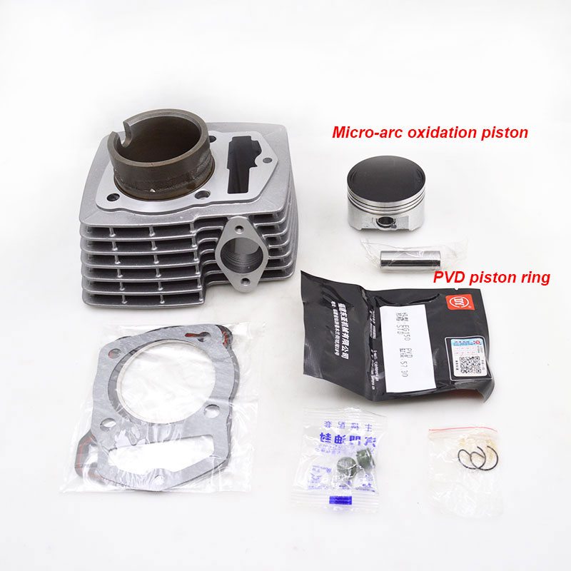 цена For Haojue Suzuki HJ150-7 HJ150-23A HJ150-8 HJ150 HJ 150 High Quality Motorcycle Cylinder Kit Set Engine Spare Parts