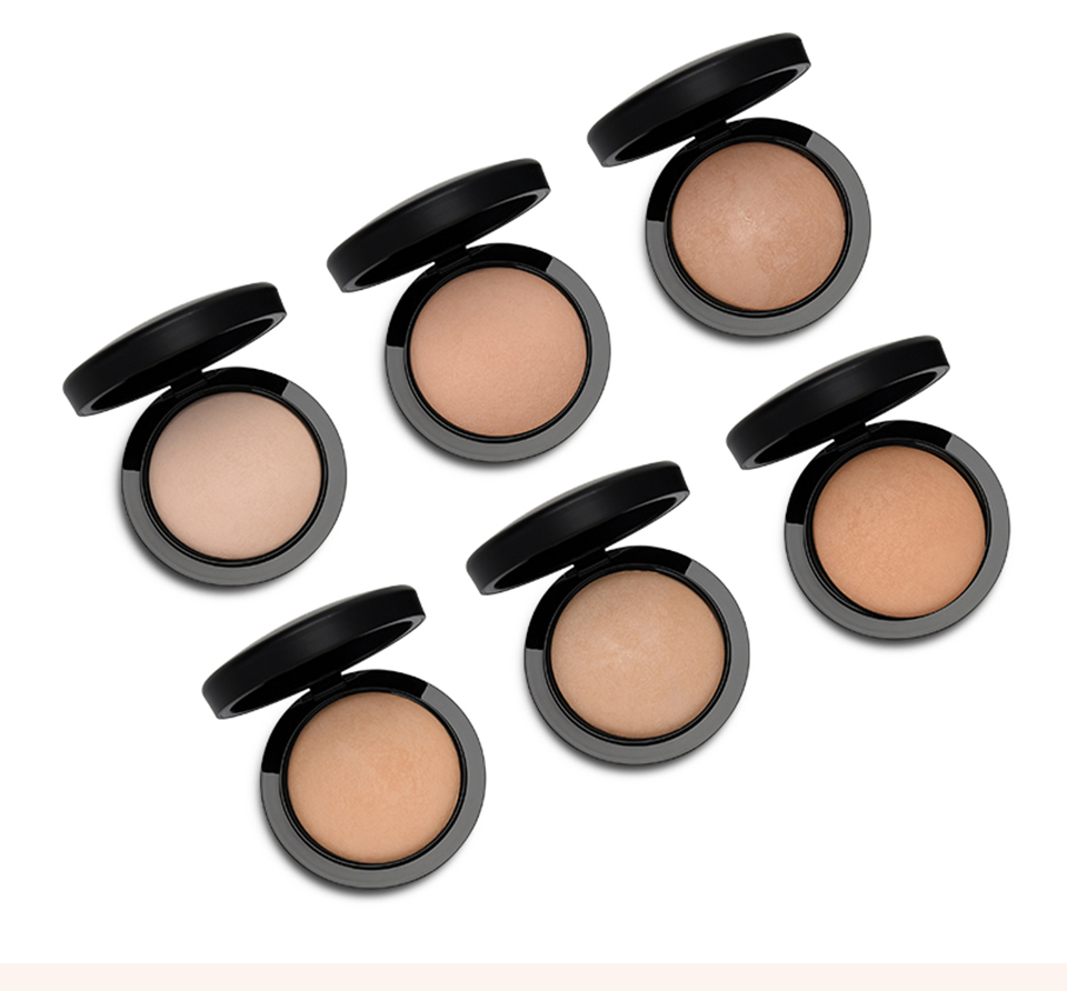 Brand HERES B2UTY Face Powder Long lasting Oil control Concealer Cover Base Fix Loose Mineralize Powder Palette Makeup with puff
