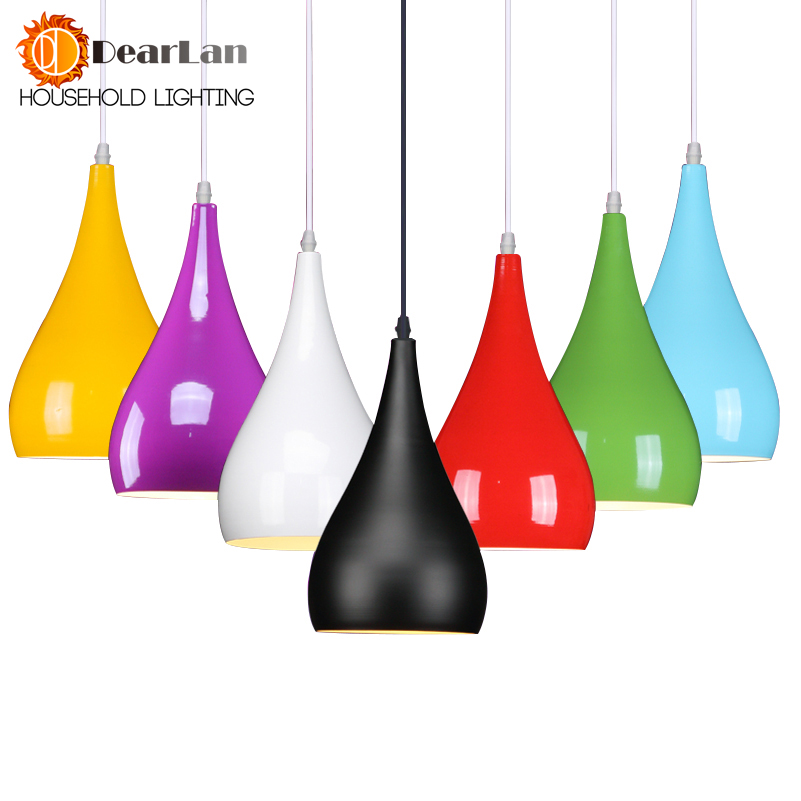 Modern Dining Room Aluminum Pendant Light,Bar Pendant Lamps,E27 Lighting Red/Black/White Dropping Lamps For Choice Free Shipping e cap aluminum 16v 22 2200uf electrolytic capacitors pack for diy project white 9 x 10 pcs