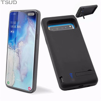 6500mah holder stand charger case for Samsung Galaxy S10 5G external battery charging cover for Samsung Galaxy S10 5G luxury