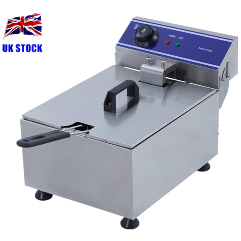 Home Use Electric Deep Fat Fryer Stainless Steel Cooker 6 Litre Oil Potato Capacity Chip Fryer 1pc gas type stainless steel food fryer french fries fryer potato deep fryer deep fat gas fryer