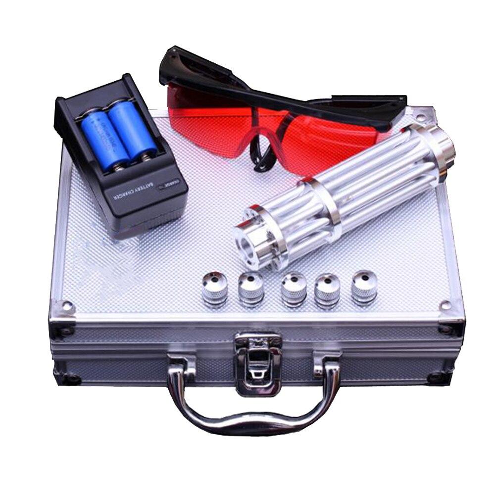 Torche Laser brûlante 450nm 10000 m pointeurs Laser bleu focalisable lampe de poche allumette bougie allumette cigarette la plus puissante - 6