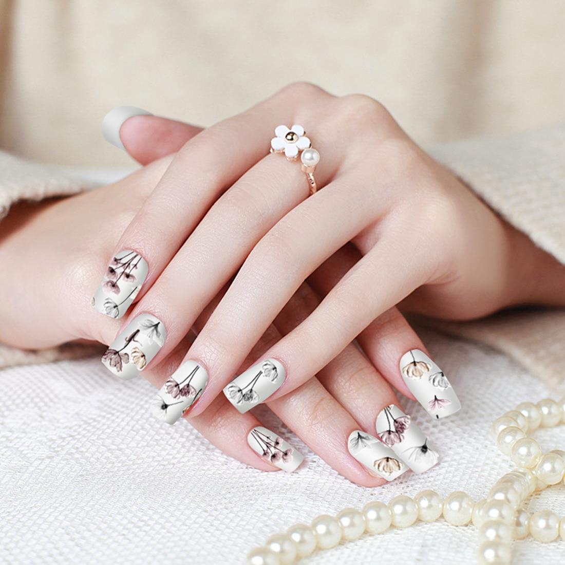 Lavender Daisy Floret Adhesive Nails Accessoires 3D Flower Nail Art ...
