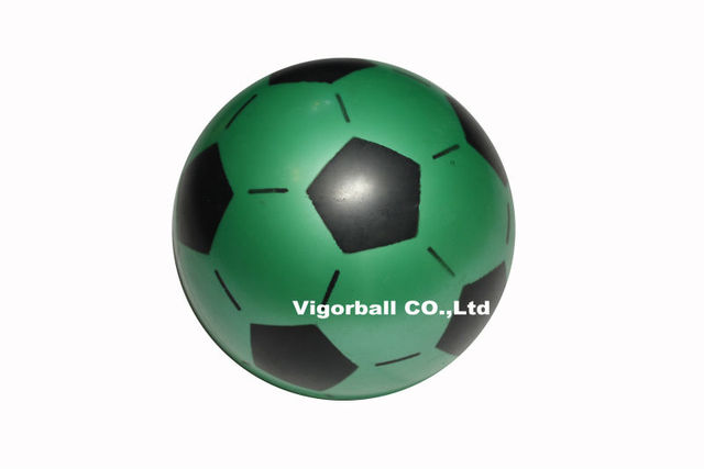 free shipping-Wholesale-18cm 01 smooth PVC football with six colors and patterns from Vigor Ball Factory
